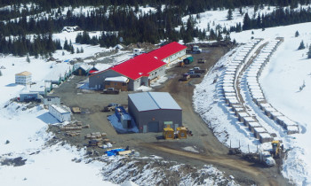 Imperial Metals Corporation's Red Chris Mine is close to opening. Camp housing is shown in this photo. (Courtesy Imperial Metals Corp.)