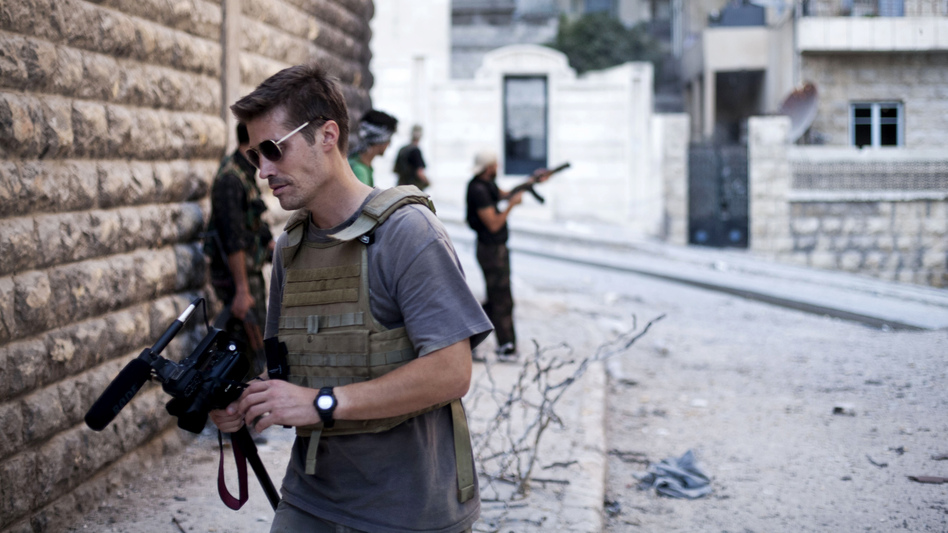James Foley in Aleppo, Syria, in September 2012. Manu Brabo/freejamesfoley.org/AP