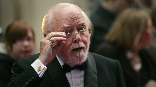 British actor, director, producer, filmmaker and entrepreneur Richard Attenborough, seen here in 2008, has died. He was 91. Lefteris Pitarakis/AP