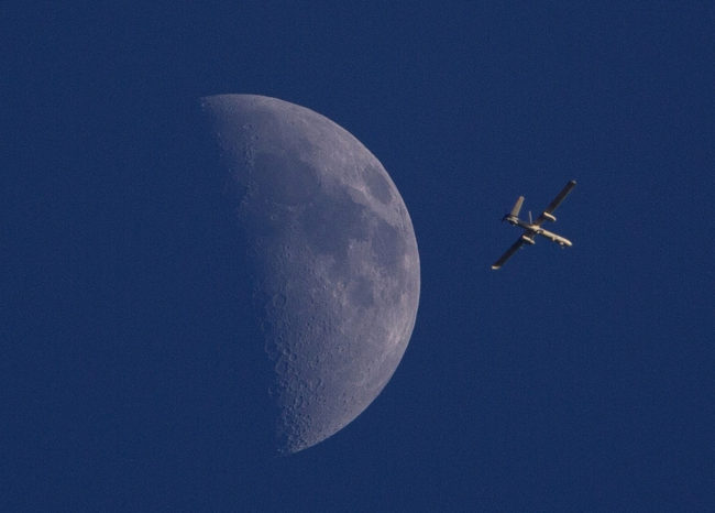 An Israeli drone circles over Gaza City on Sunday. Dusan Vranic/AP