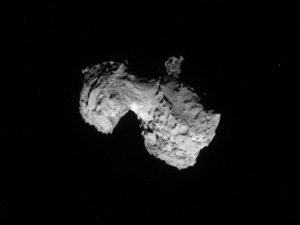 The Rosetta Spacecraft is within 186 miles of 67P/Churyumov-Gerasimenko, less than the distance from New York to Boston. ESA/Rosetta/NAVCAM