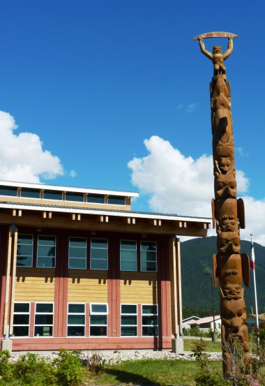 The Nisga'a Lisims Government Building is the home of the First Nation's government. (Ed Schoenfeld, CoastAlaska News)