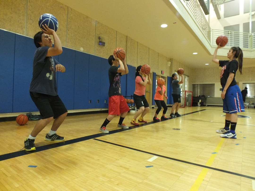 The Tlingit language was incorporated into drills at a recent basketball camp in Juneau sponsored by Sealaska Heritage Institute. (Photo by Casey Kelly/KTOO)
