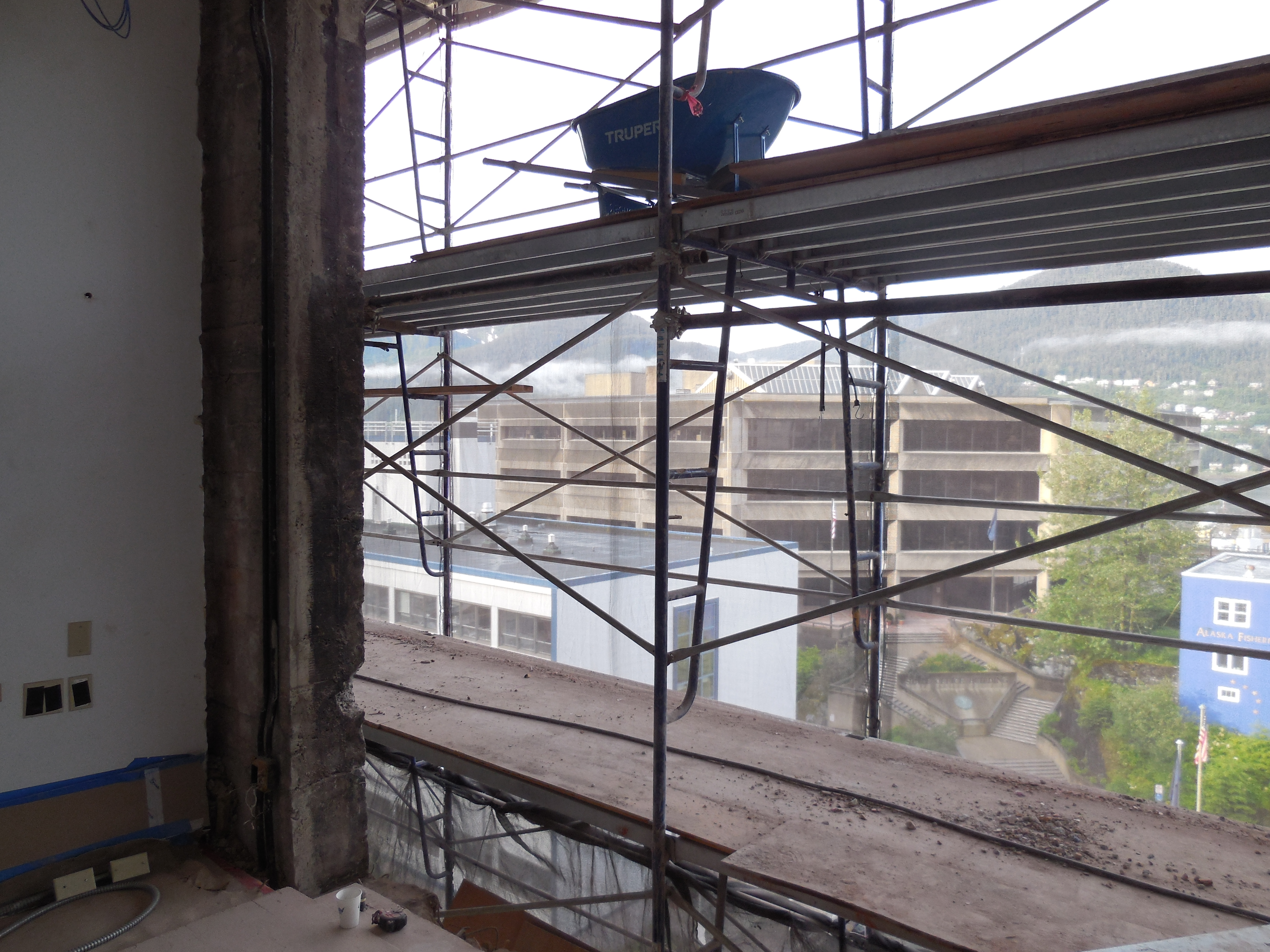 This was the view from Rep. Alan Austerman's fifth floor Capitol office in June. The capital renovations will continue through the winter.(Photo courtesy Legislative Affairs Agency)