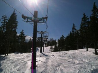Black Bear Chairlift at Eaglecrest Ski Area in April 2013. (Photo by Matt Miller/KTOO)