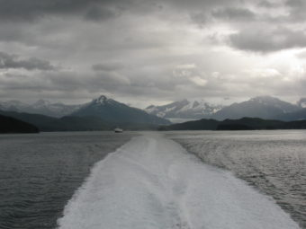 Officials are supporting the idea of a ferry that could connect to the southern end of Mitkof Island south of Petersburg. (Photo courtesy of KFSK)