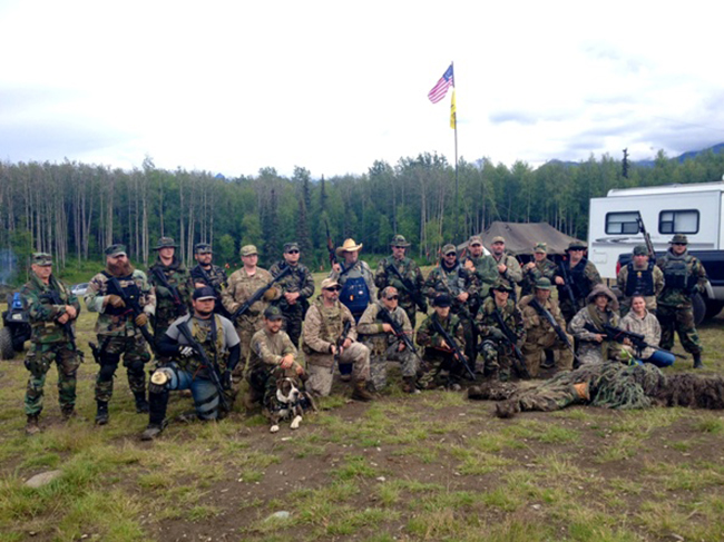 militia group photo