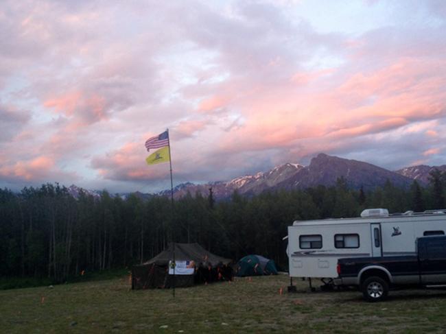 militia sunset