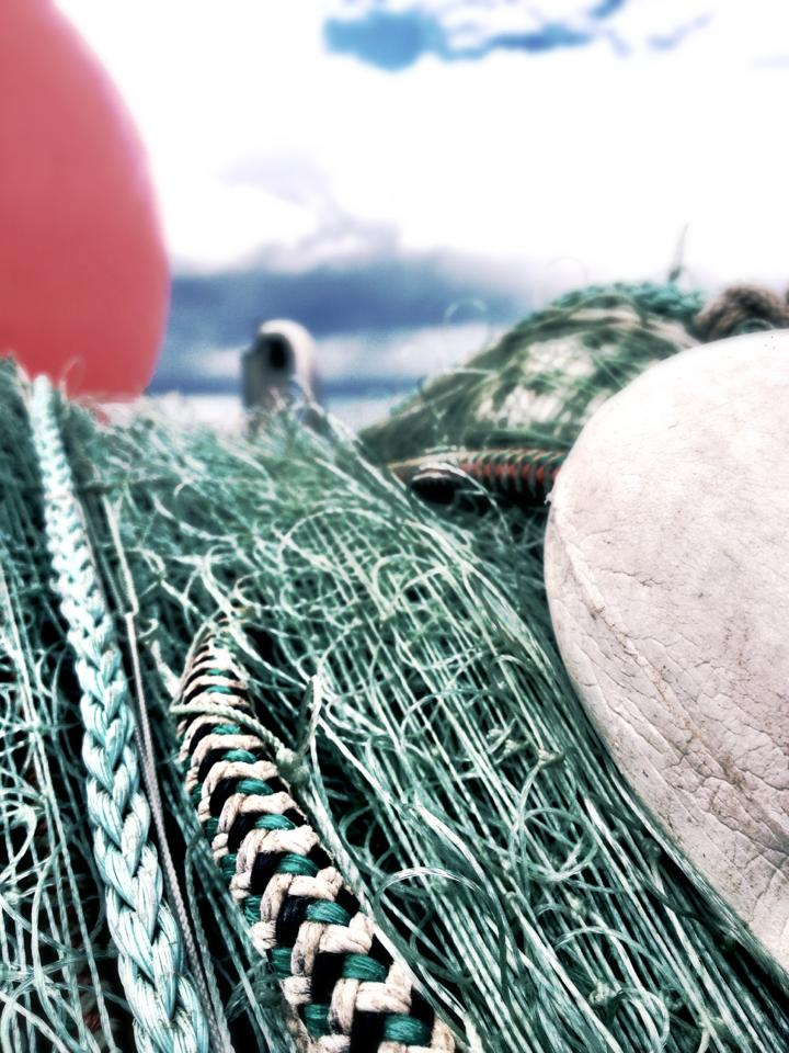 Disposal of fishing nets has caused problems for the harbor department and Public Works. A new recycling initiative for nets aims to curb illegal dumping. (Photo by Asia Fisher/KSTK)