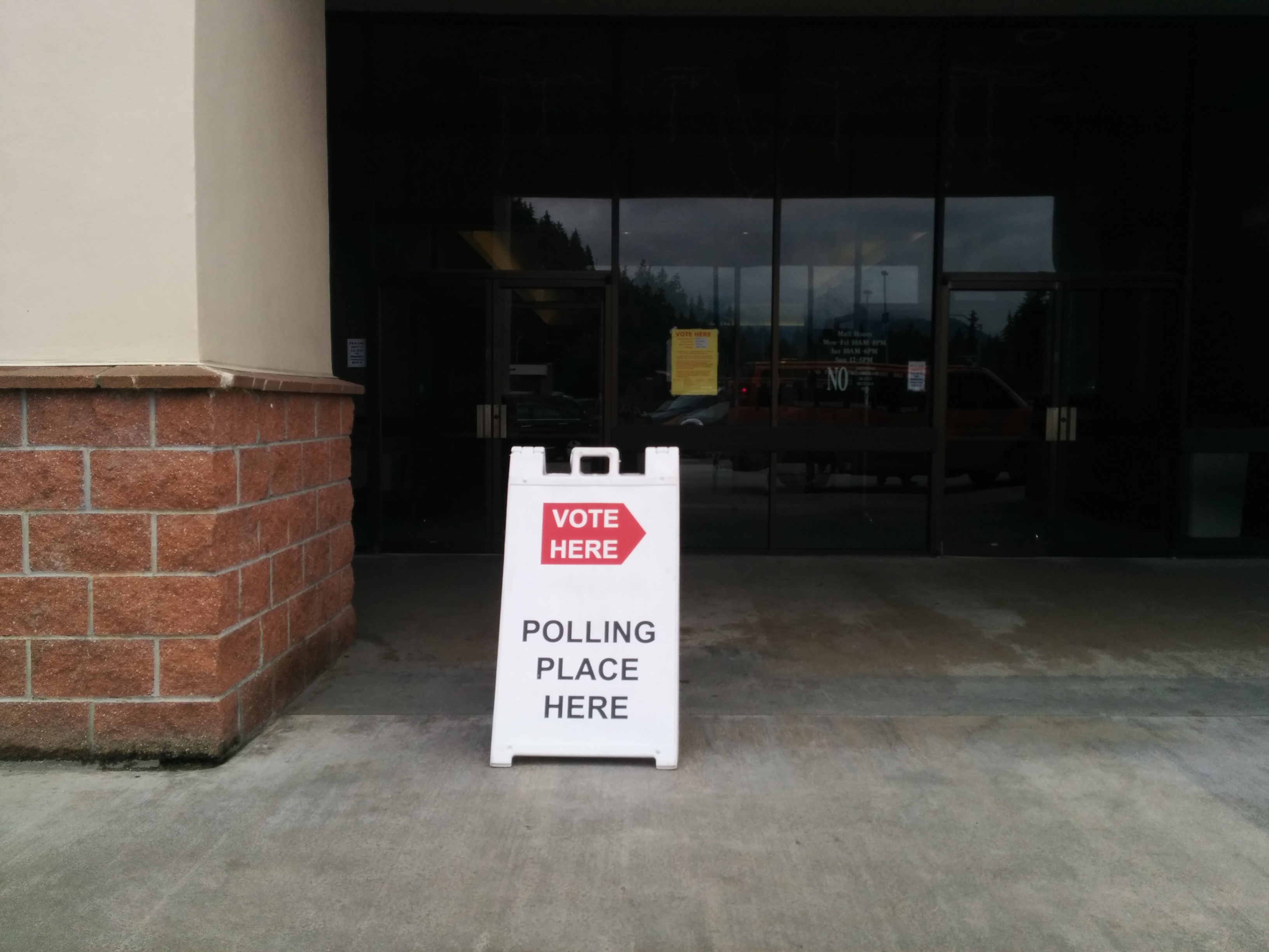 The polling location at the Nugget Mall.