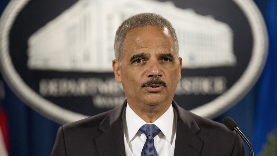 Attorney General Eric Holder speaks during a Sept. 4 news conference at the Justice Department in Washington. Pablo Martinez Monsivais/AP