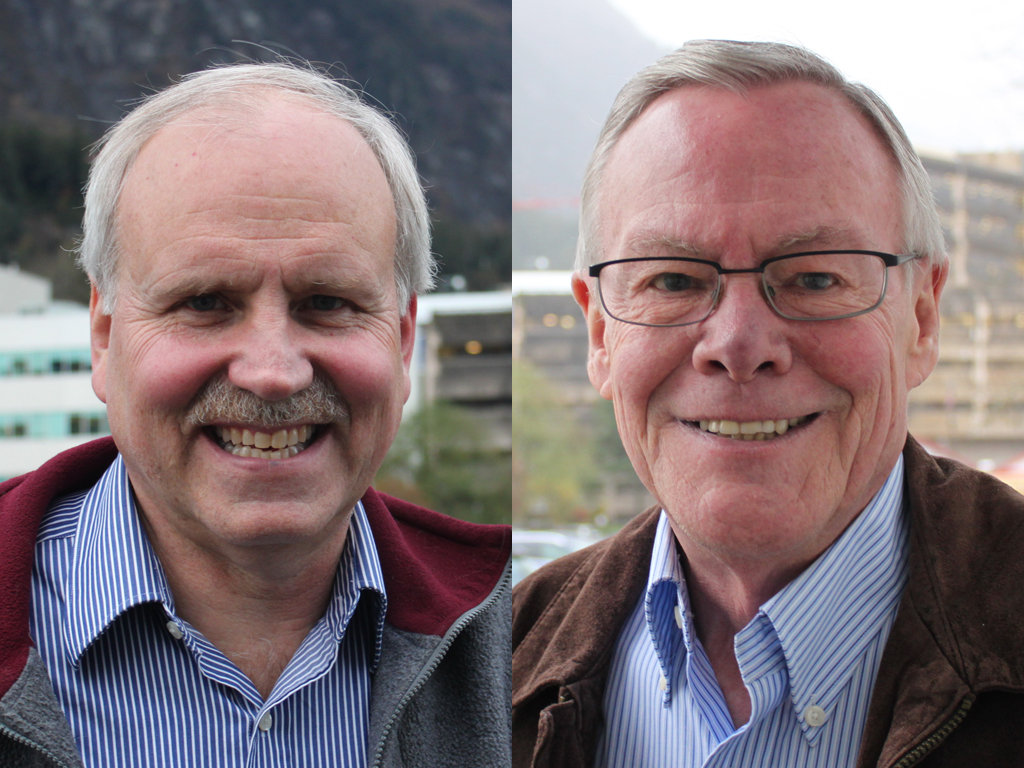 Republican Tom Williams is running against incumbent Democrat Sen. Dennis Egan. (Photo by Lisa Phu  & Sarah Yu/KTOO)