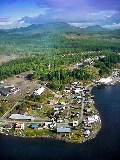 Kake, in central Southeast Alaska, lost three jobs when Sealaska subsidiary Managed Business Solutions closed its satellite office last month. (Courtesy Alaska Community Database)