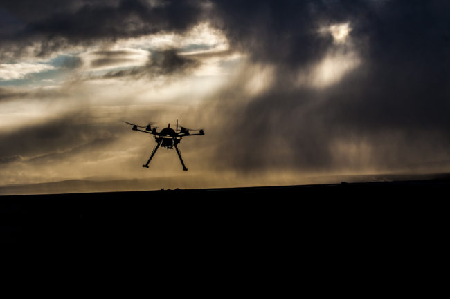 Ptarmigan drone designed by UAF in Selfoss, Iceland. (Photo courtesy Steve Kibler)