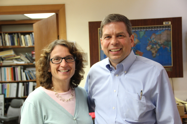 Alaska Sen. Mark Begich, with his wife Deborah Bonito, visited Sitka on June 26. Southeast voted for Begich over Sullivan on Tuesday. (Rachel Waldholz/KCAW News)