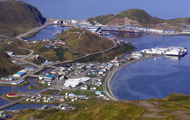 From the top of Mt. Newhall in Unalaska. (Creative Commons photo by Tom Doyle)
