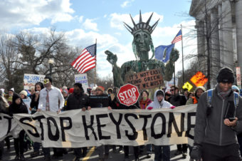 Protestors against Keystone gather in November. (Creative Commons Photo by Diane Greene Lent)