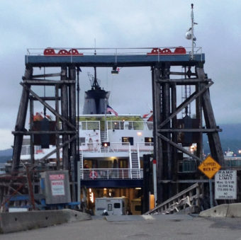 The ferry Taku loads up at the Prince Rupert, B.C., ferry terminal July 24, 2014. (Ed Schoenfeld/CoastAlaska News)