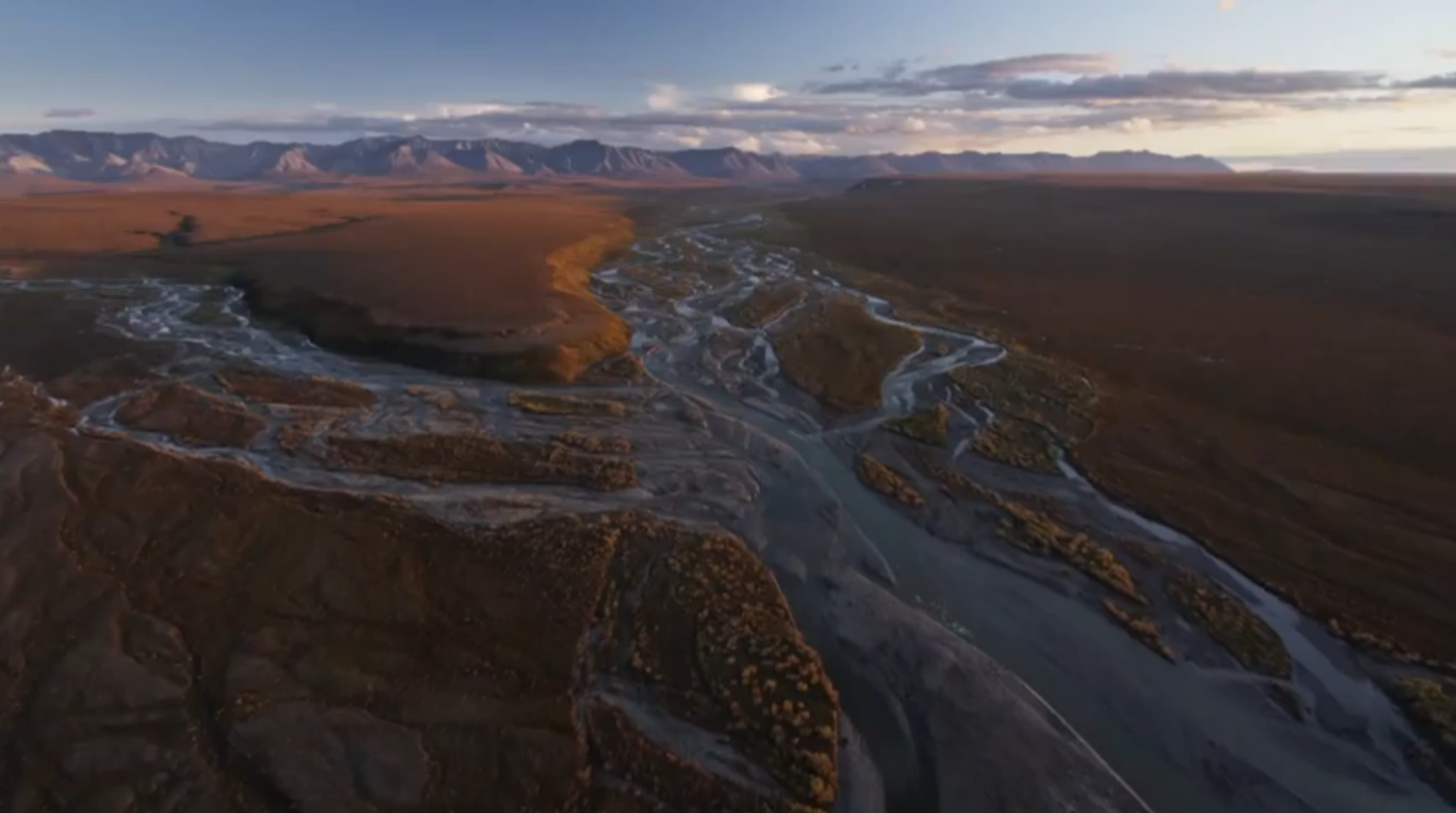 A still from the ANWR video released by the White House (Image courtesy YouTube)