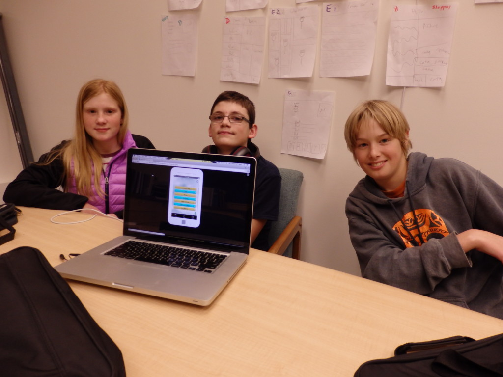 Middle school students build mobile app for haines visitors Building designing app