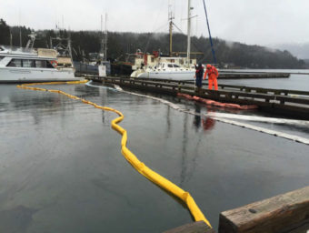 Statter Harbor, oil spill