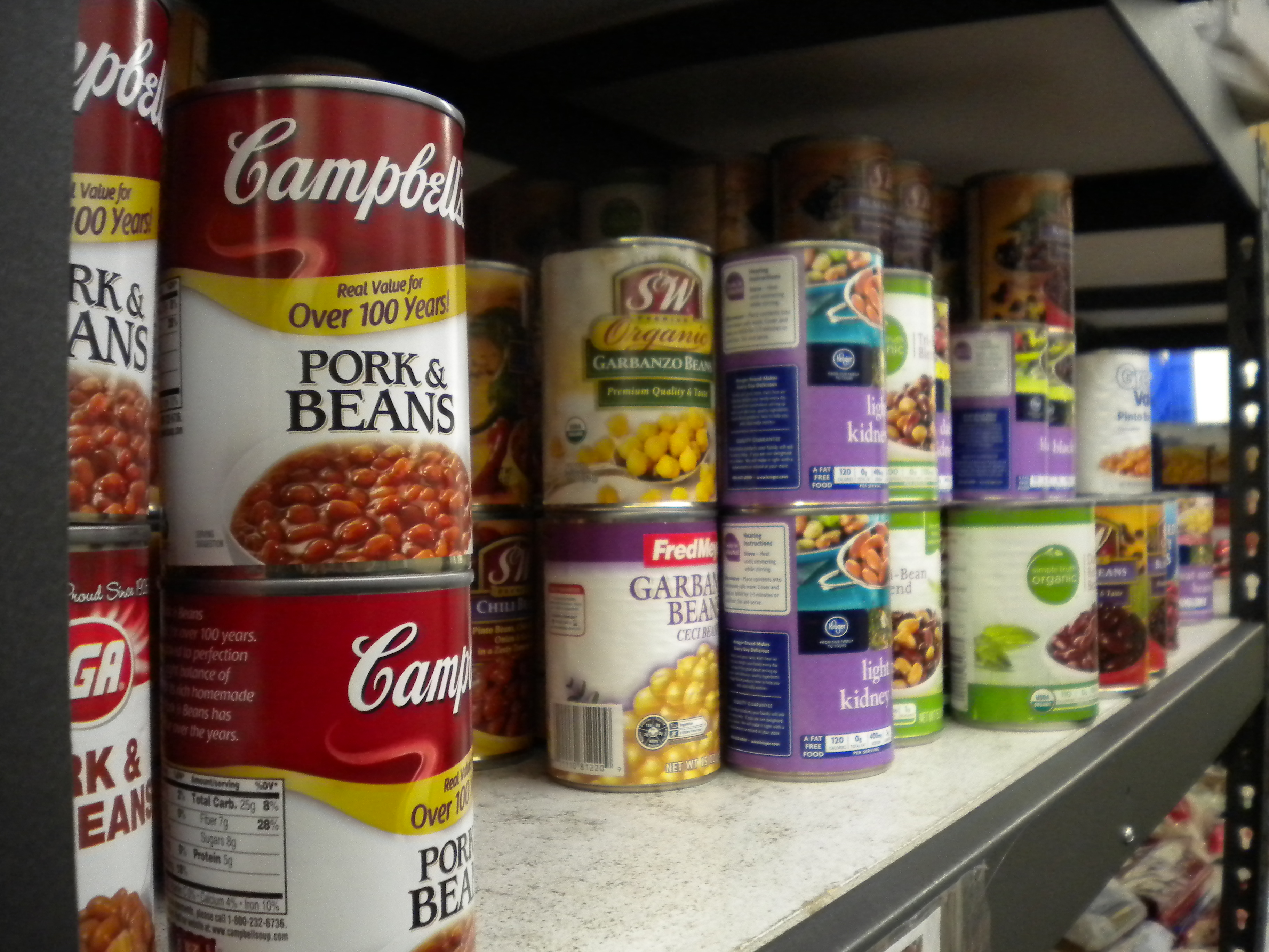 The Southeast Alaska Food Bank allows any individual to visit on Saturday morning to take perishable goods such as milk, meat and cheese. The nonprofit gives its canned foods to local charities. (Photo by Kevin Reagan/ KTOO)