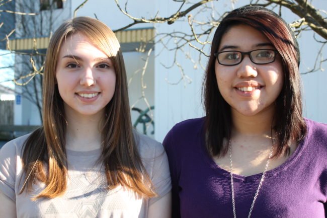Deanna Hobbs and Analicia Castaneda-Felipe head to Anchorage this weekend to accept a Spirit of Youth Award. (Photo by Lisa Phu/KTOO)