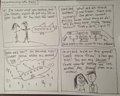 """My Relationship with Pilots: A Comic."" Courtesy of Libby Bakalar"
