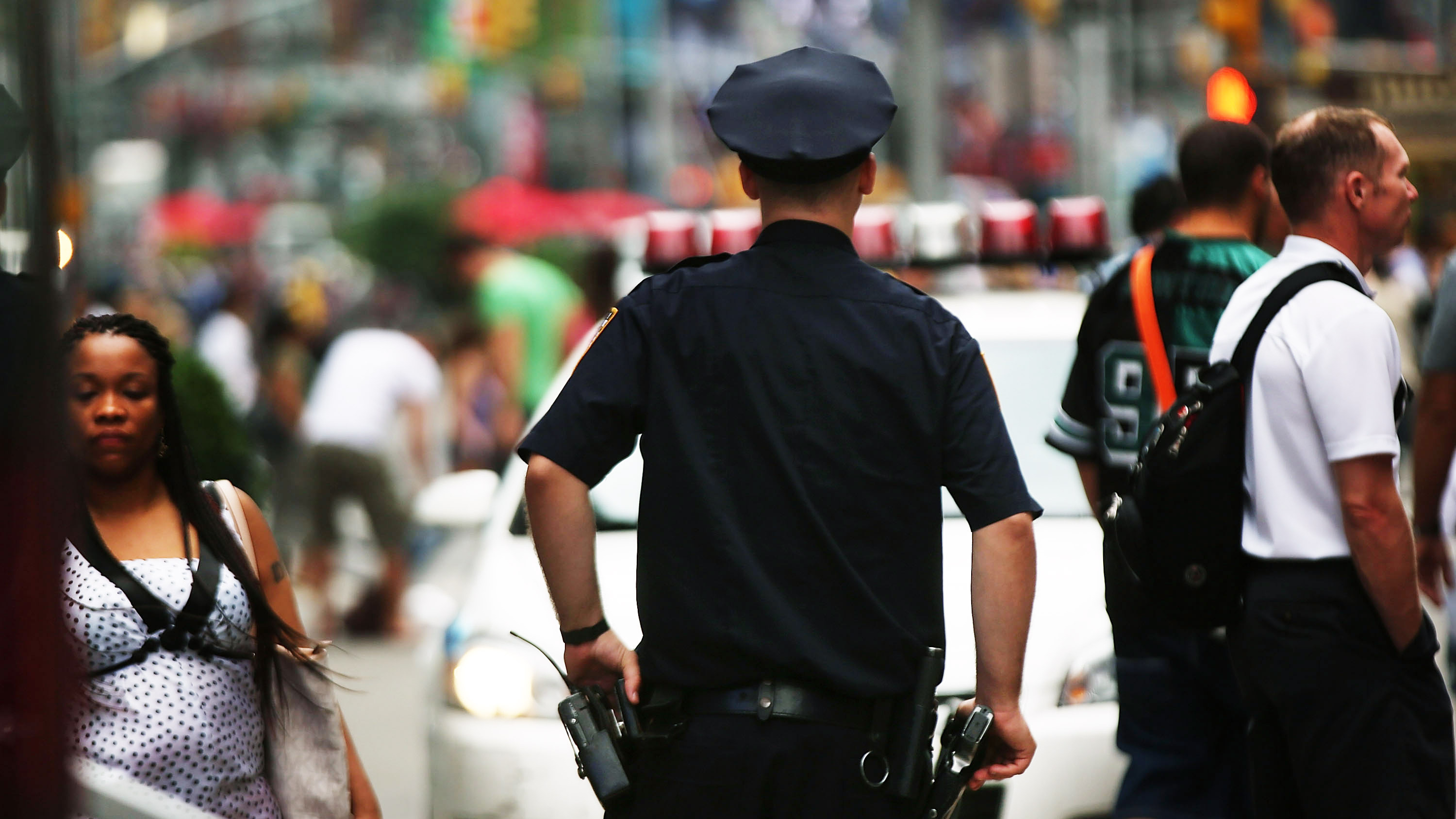Multiple lawsuits accuse the New York City Police Department of pressuring officers into fulfilling monthly quotes for tickets and arrests, resulting in warrantless stops. The NYPD denies the allegations. (Photo by Spencer Platt/Getty)