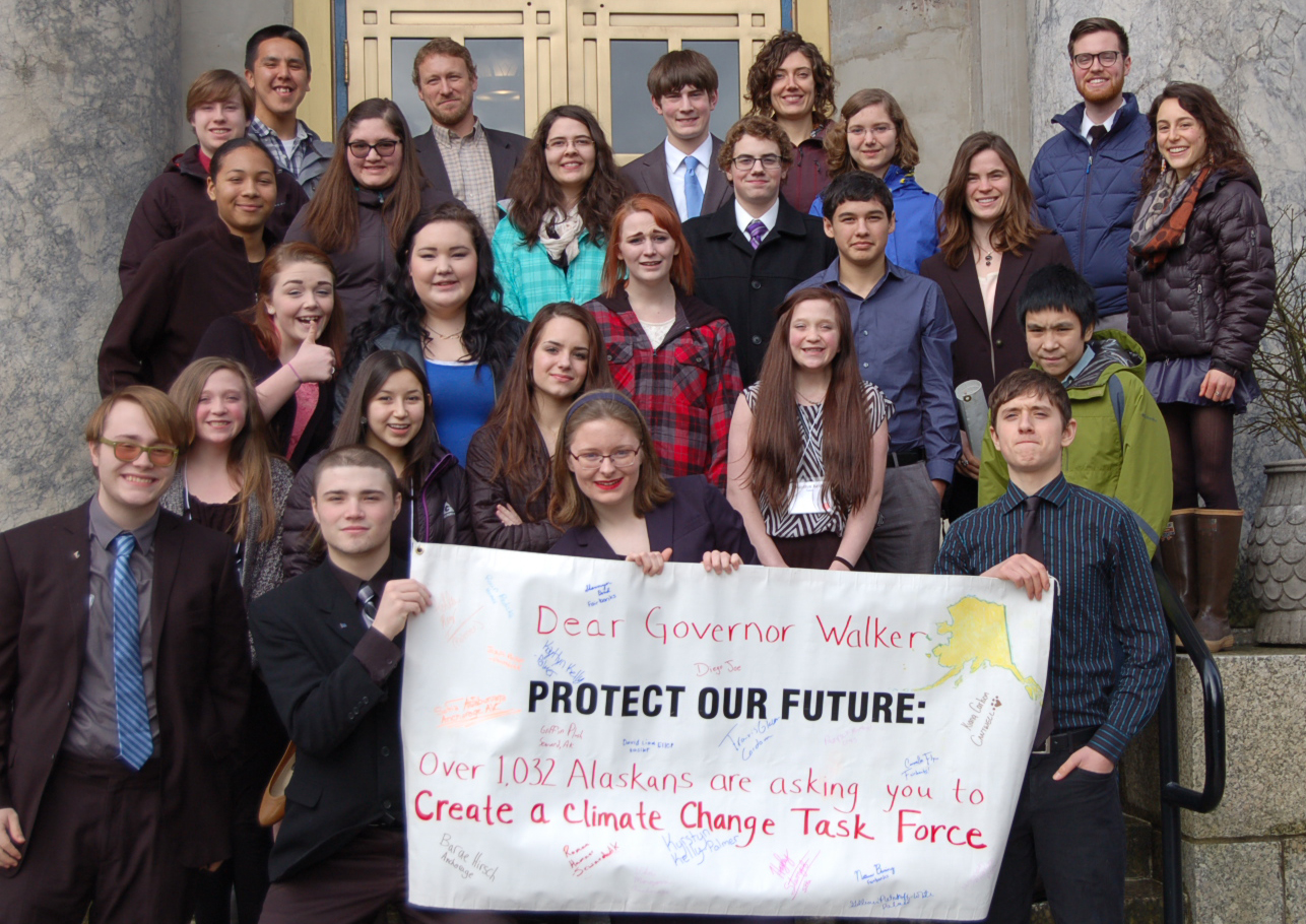 AYEA teens asked Governor Walker for a climate change task force. (Photo courtesy of AYEA)