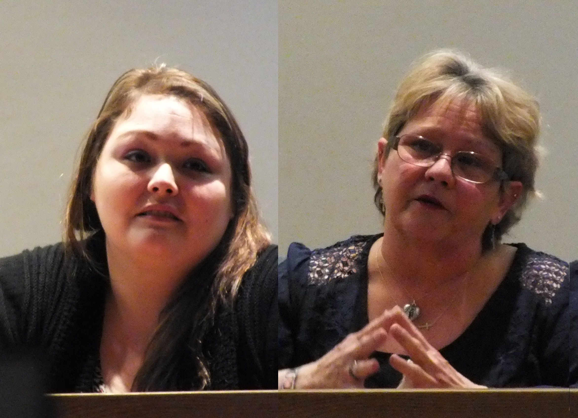 Haley Tokuoka-Yearout and Debbie Green testify during the civil trial in April 2015. (Photos by Matt Miller/KTOO)