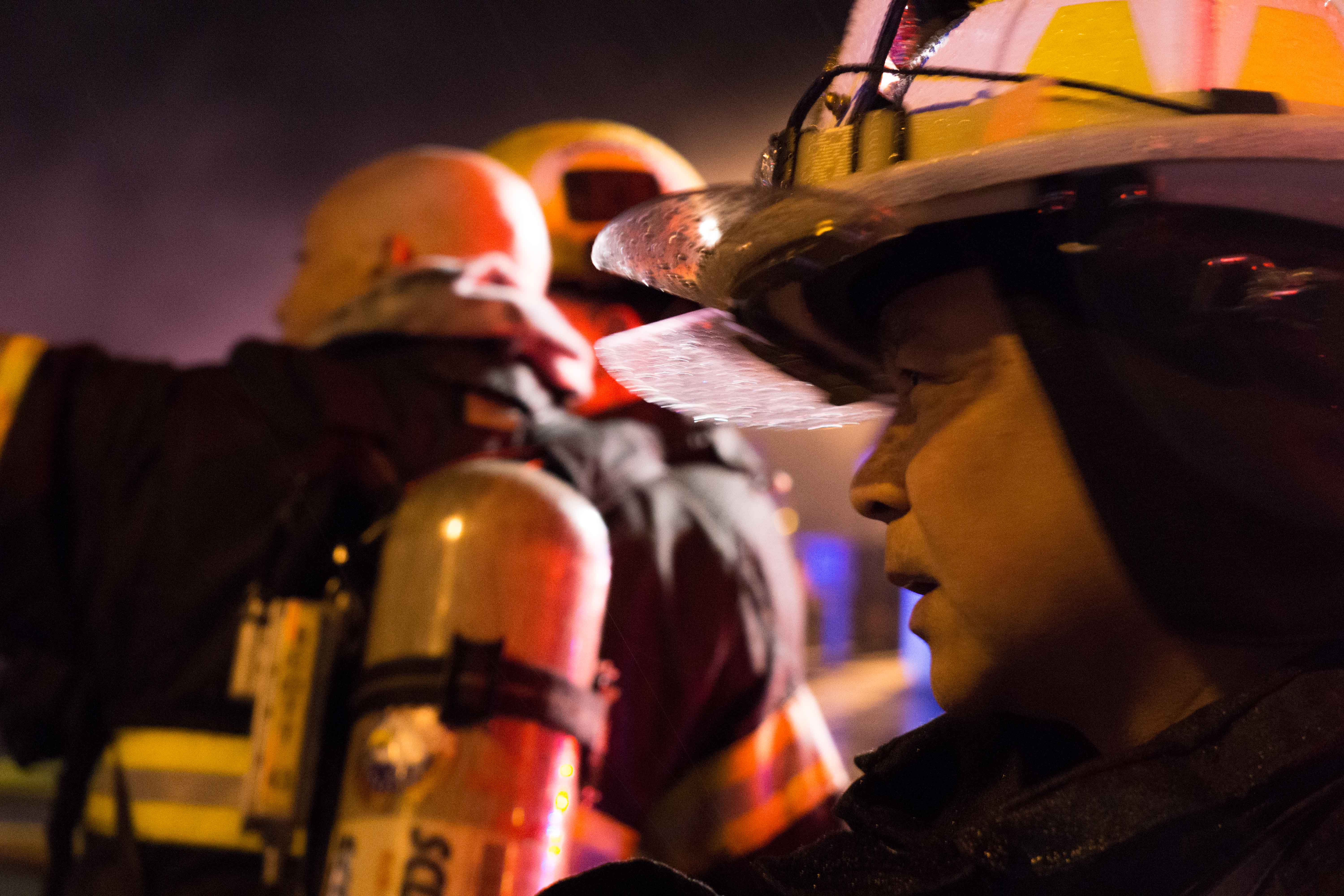 Assistant Chief Ed Quinto of Capital City Fire/Rescue on the scene. (Photo by Jeremy Hsieh/KTOO)