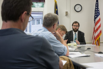 Assistant City Attorney Chris Orman advises the Building Code Board of Appeals.