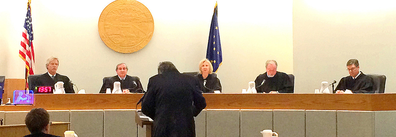 The Alaska Supreme Court in Juneau in 2014. (Photo by Sarah Yu/KTOO)