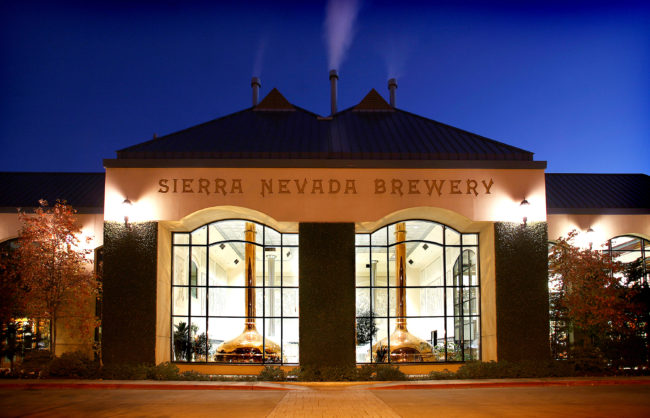 At its facility in Chico, Calif., Sierra Nevada Brewing Company has built a CO2 recovery system to capture the gas that's created during fermentation and recycle it back into operations. Courtesy of Sierra Nevada Brewing Co.