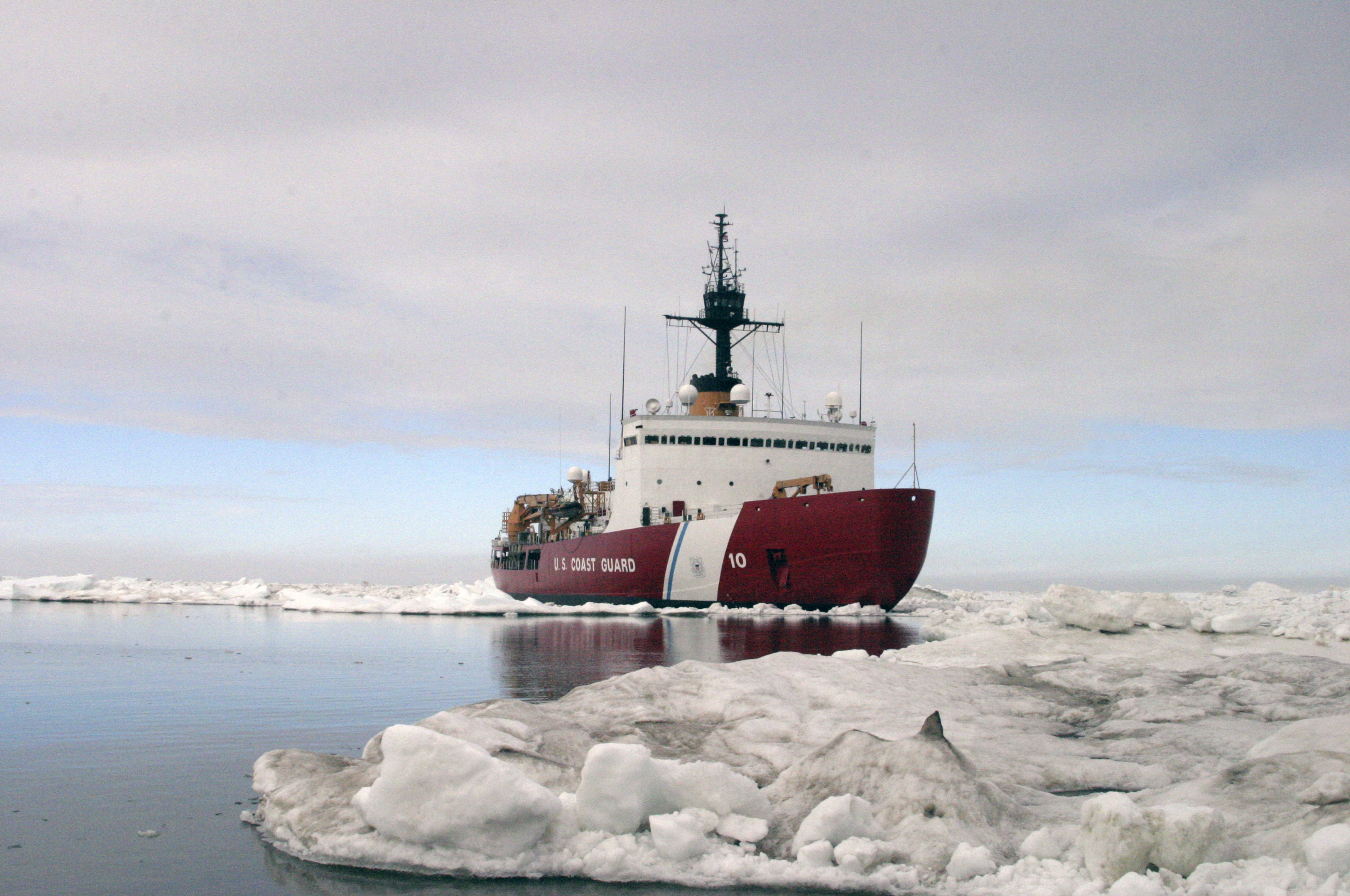 The Polar Star completes ice drills in the Arctic in July 2013. Built in the 1970s and only meant to last 30 years, the vessel is the U.S. Coast Guard's only heavy icebreaker. U.S. Coast Guard/Reuters