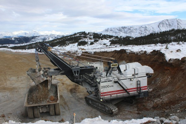 Mining at Red Chris in February 2015. (Photo courtesy of imperialmetals.com)