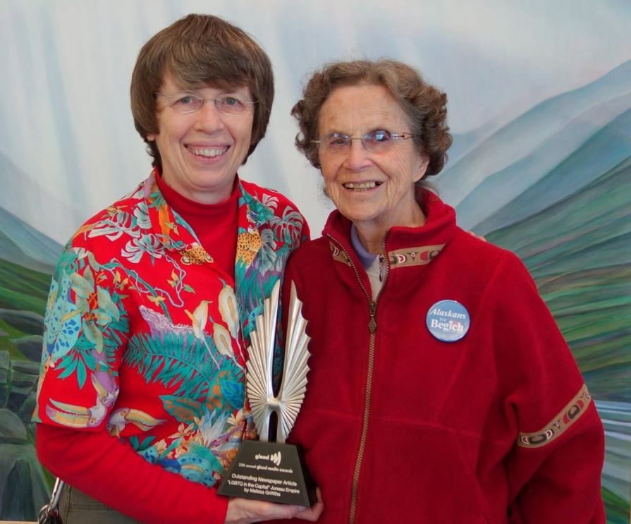 Sara Boesser and Mildred Boesser in September, 2014. (Photo by Melissa Griffiths)