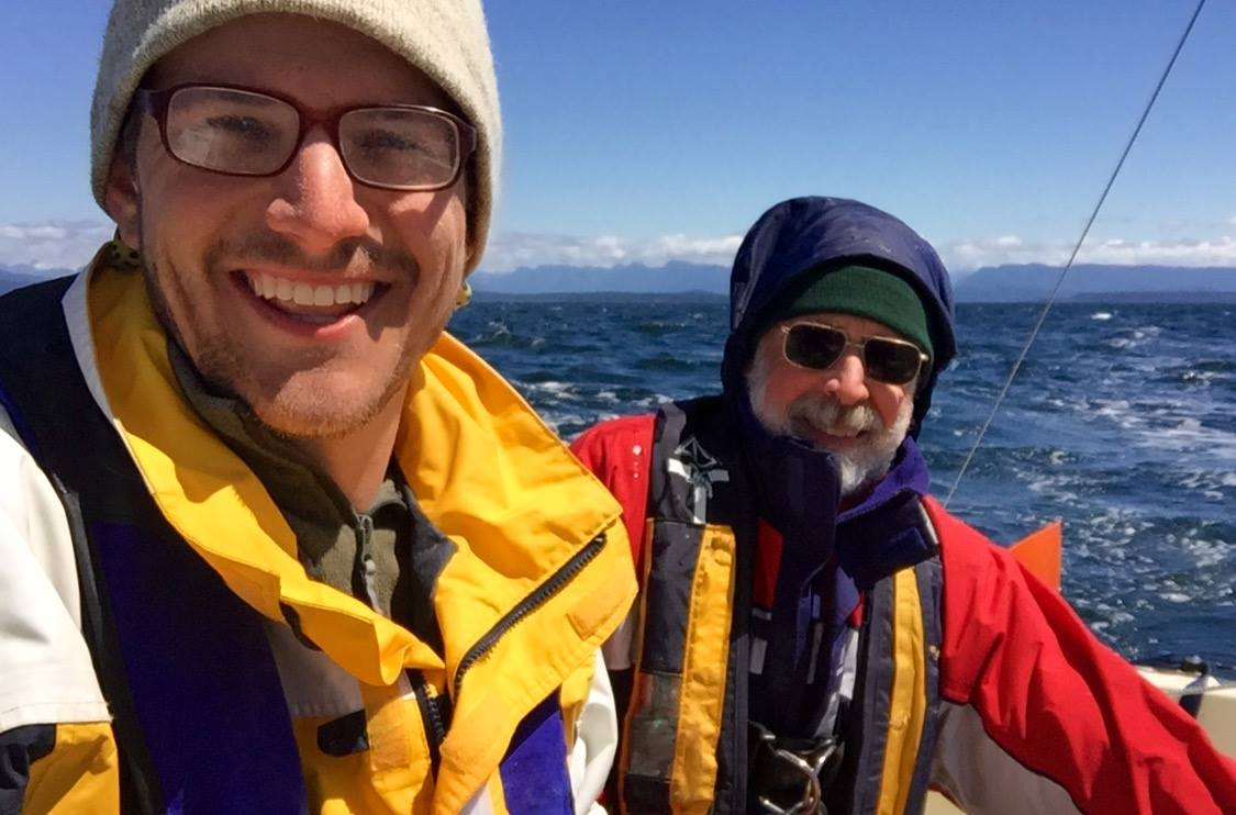 """Team Excellent Adventure checks in from the Inside Passage during the """"Race to Alaska"""" event. (Photo courtesy R2AK)"""