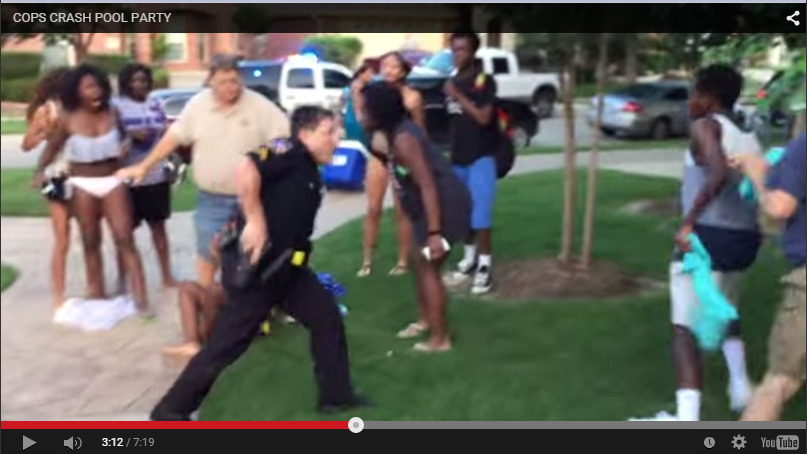 Officer from McKinney, Texas, Police Department draws weapon on teens.