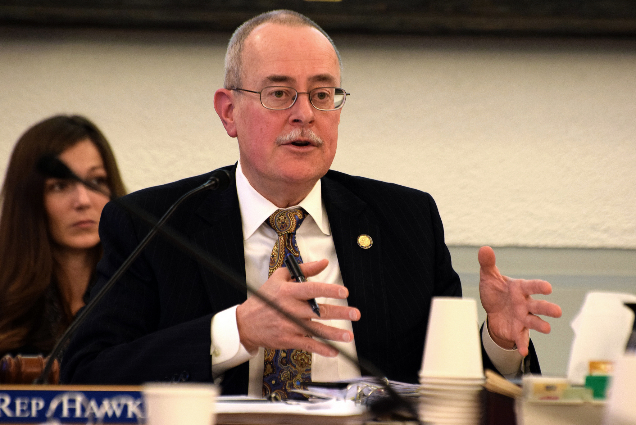Rep. Mike Hawker, Chair of the Legislative Budget & Audit Committee, on Feb. 12, 2015. (Photo by Skip Gray/360 North)