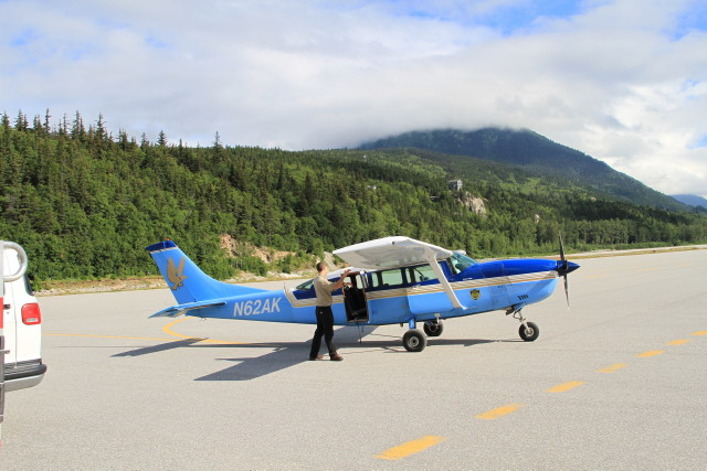 This is a photo of the Wings of Alaska plane servicing flight 202 from Juneau to Hoonah that went down earlier this afternoon. (Photo by Murray Lundberg)