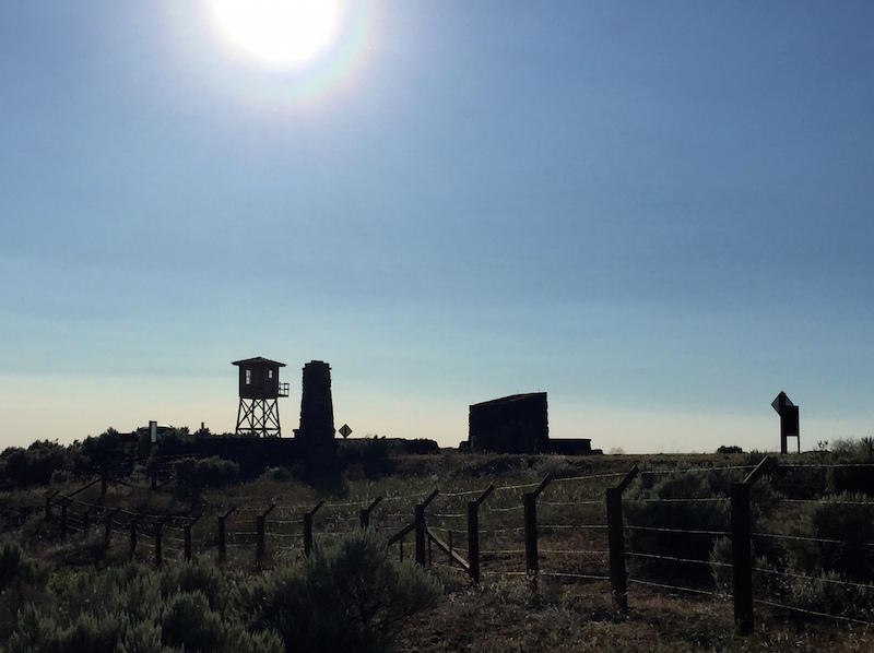 The Minidoka internment camp was hastily erected in 1942 on a stark, sagebrush plain near Twin Falls, Idaho. (Photo by Tom Banse/Northwest News Network)