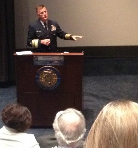 Coast Guard Commandant Paul Zukunft at an Arctic symposium in Washington D.C. (Photo by Liz Ruskin, APRN-Washington)