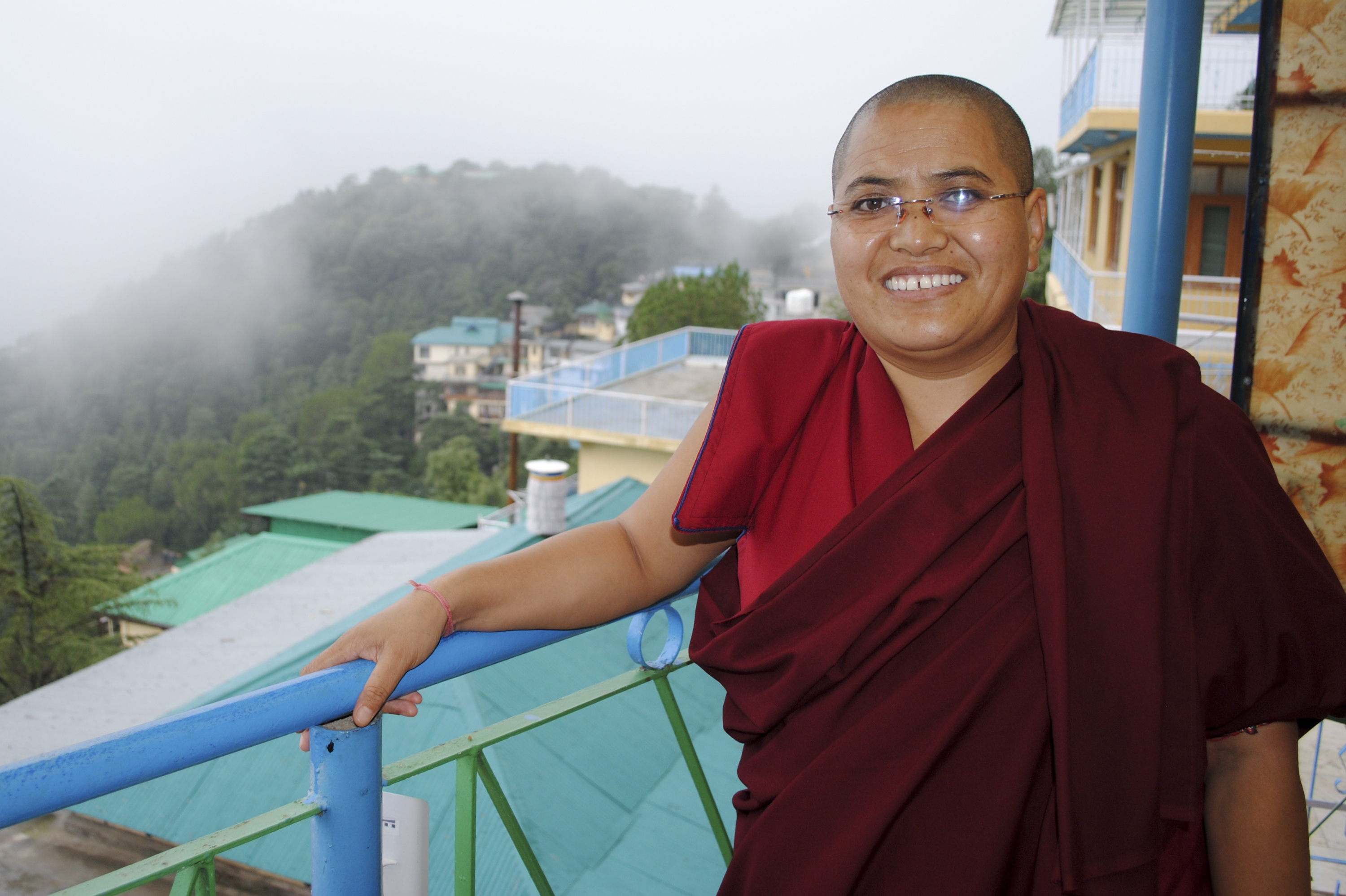 monsoon takes a break tibetans celebrate dalai lama s th birthday tenzin lhadron a tibetan buddhist nun in dharamsala says the dalai lama