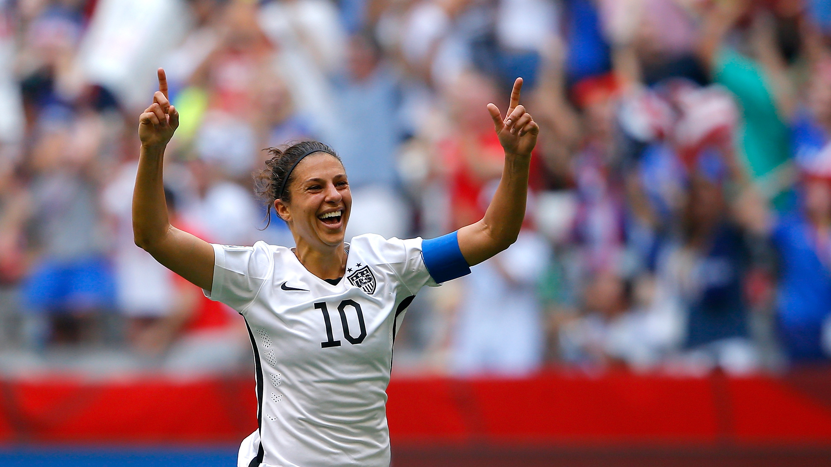 To the delight of American fans, Carli Lloyd of the United States scored a hat trick in the first 15 minutes of the FIFA Women's World Cup Final against Japan on Sunday. Kevin C. Cox/Getty Images