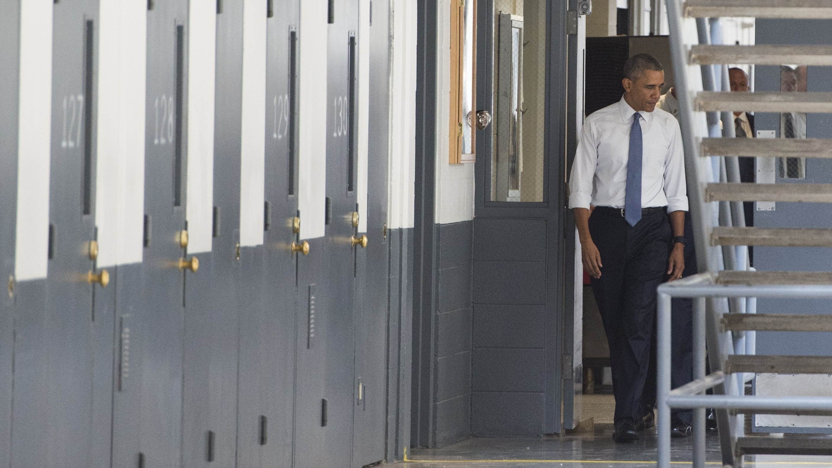 President Obama toured the El Reno Federal Correctional Institution in Oklahoma on Thursday and met with six inmates. Saul Loeb/AFP/Getty Images