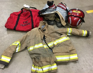 The firefighter's stolen gear. (Courtesy Juneau Police Department)