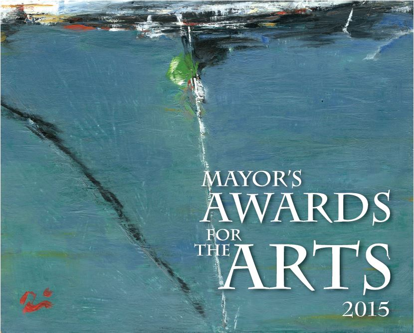 "The certificates for the 2015 Mayor's Awards  for the Arts feature Timi Johnson's ""Reflections on Sailing."" It won the 2015 Best in Show award at a juried art show through the Juneau Arts and Humanities Council."