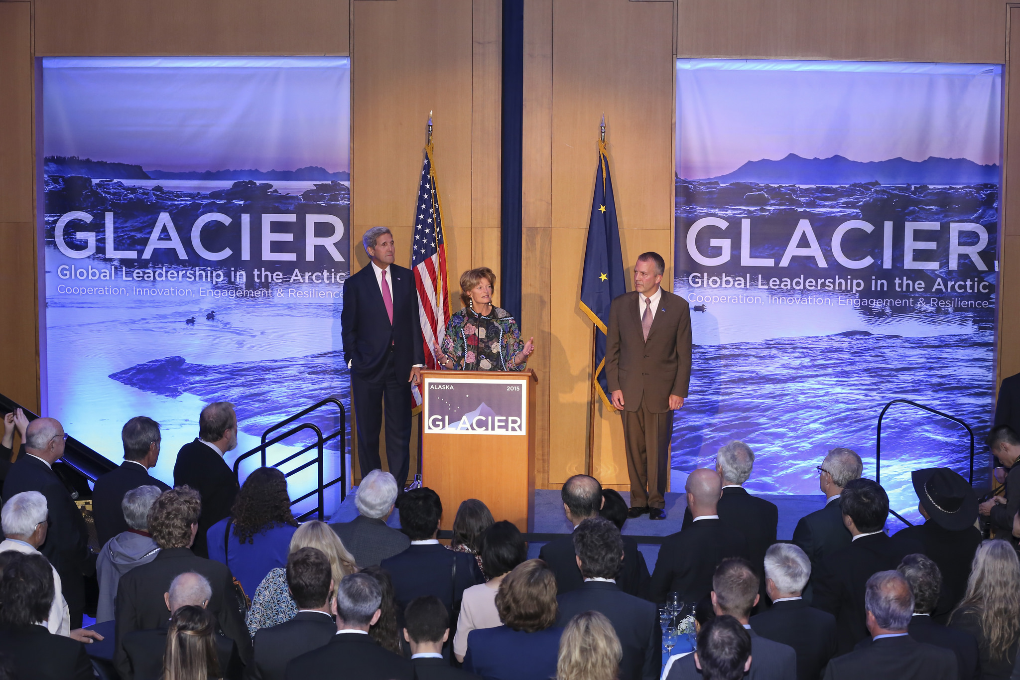 Opening reception for the GLACIER conference (Photo courtesy of State Department/Ralph Radford)